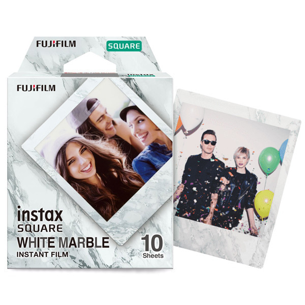 Картридж Instax Square White MARBLE (квадратный кадр)