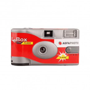 Одноразовый фотоаппарат AGFA Lebox Flash + батарейка + плёнка