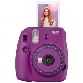Instax mini 9 Purple + Lens