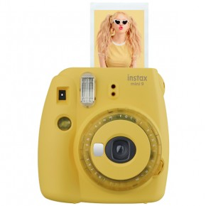 Instax mini 9 Yellow + Lens