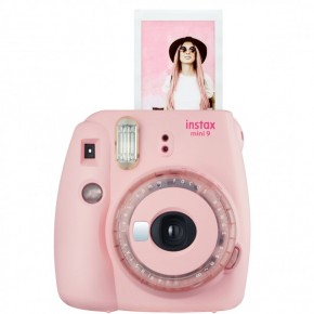 Instax mini 9 Clear Pink + Lens